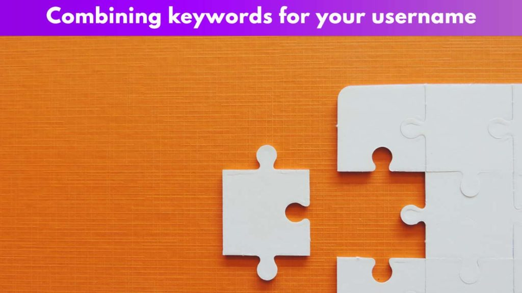 Combining keywords for your username