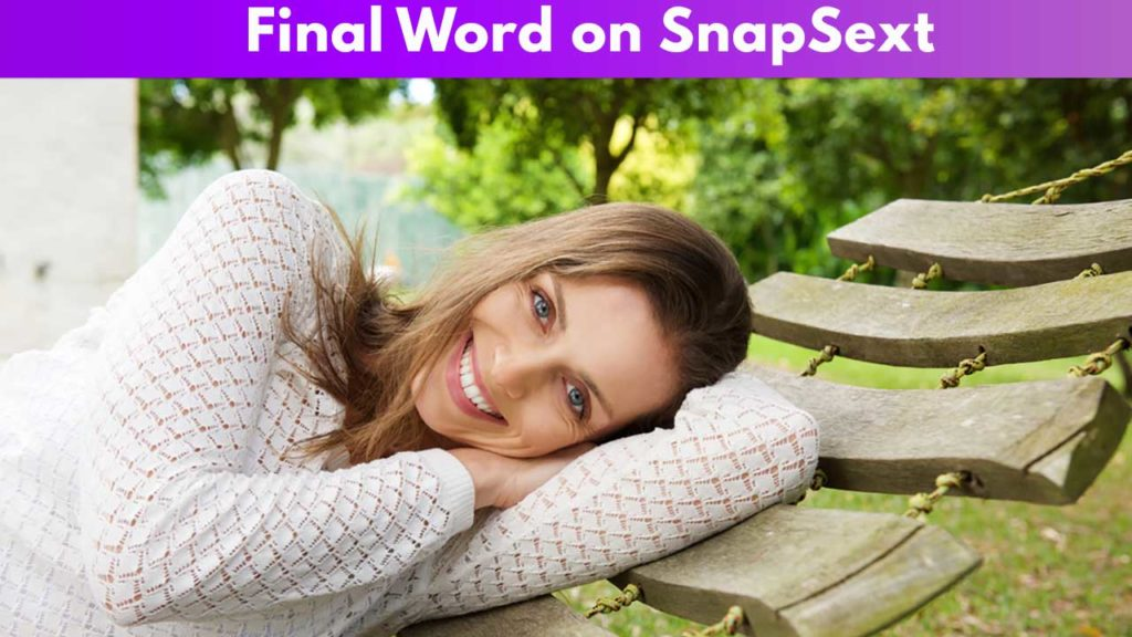 Final word on Snapsext