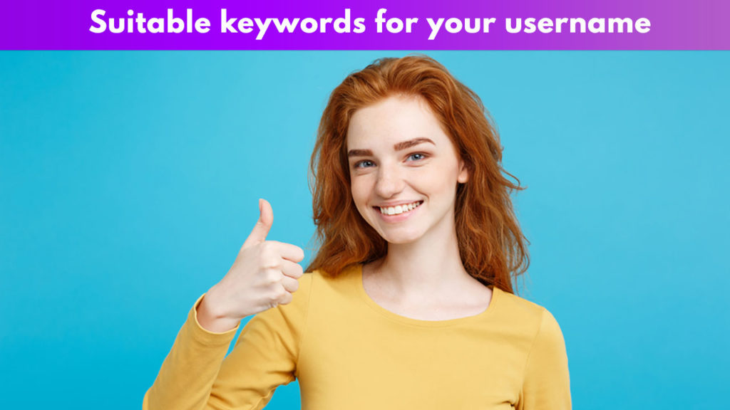 Suitable keywords for your username
