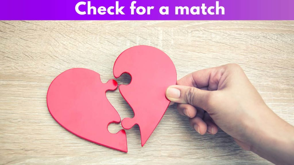 Check for a match