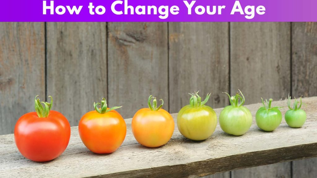 How to change your Age