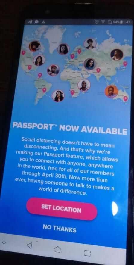 Passport Set Location