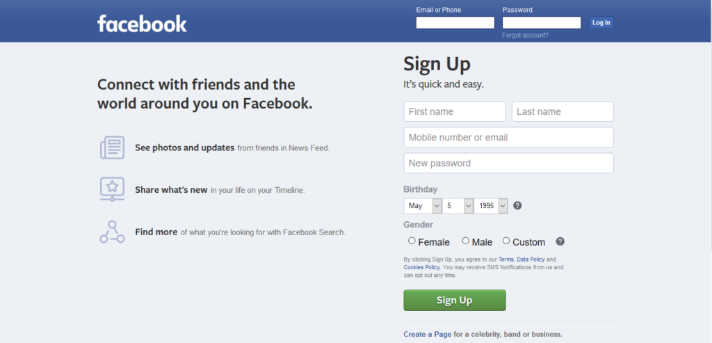 Make a New Facebook Account
