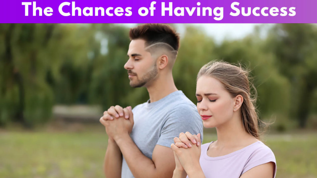 The chances of having success 4