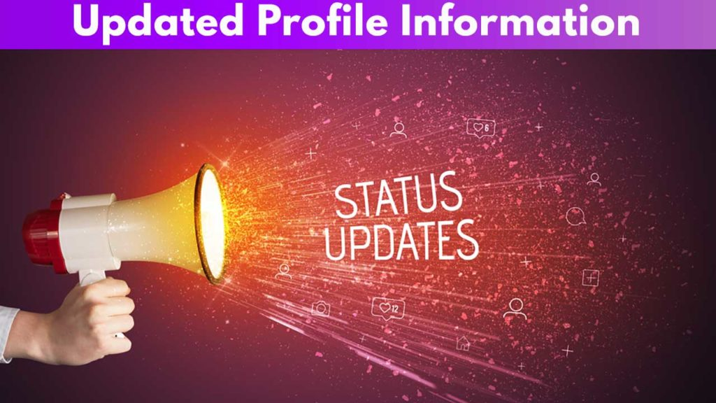 Updated Profile Information
