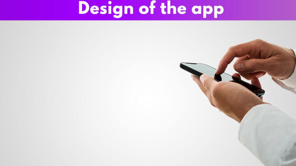 Design of the app