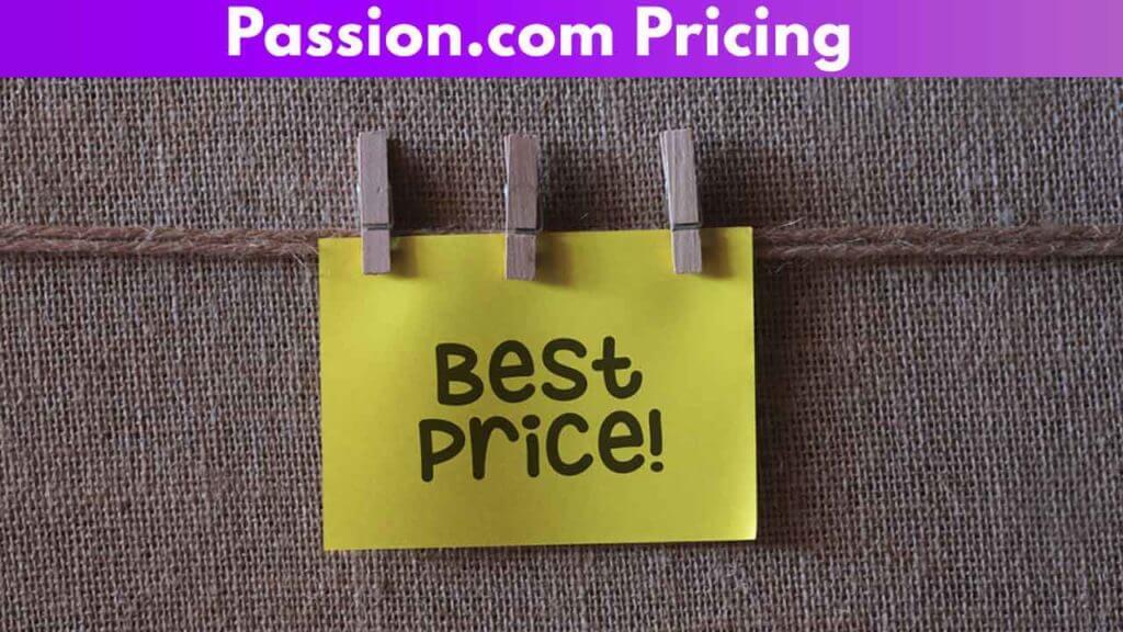 Passion.com Pricing