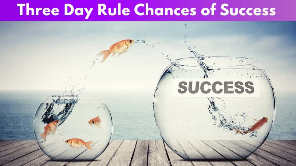 3-day rule chances of success