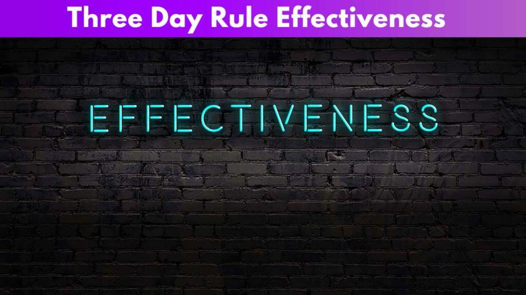 3-day rule effectiveness