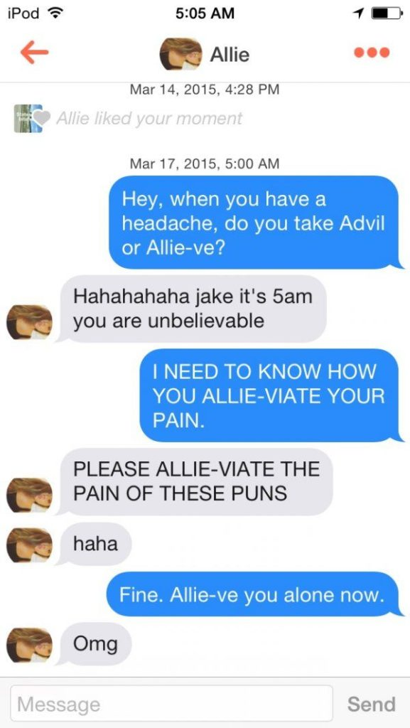 26 Funny Tinder Pick Up Lines for Guys - These are gold 2