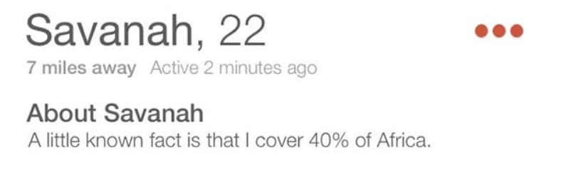 30+ Funny Tinder Bios - Boost Your Tinder Match Success Rate 4