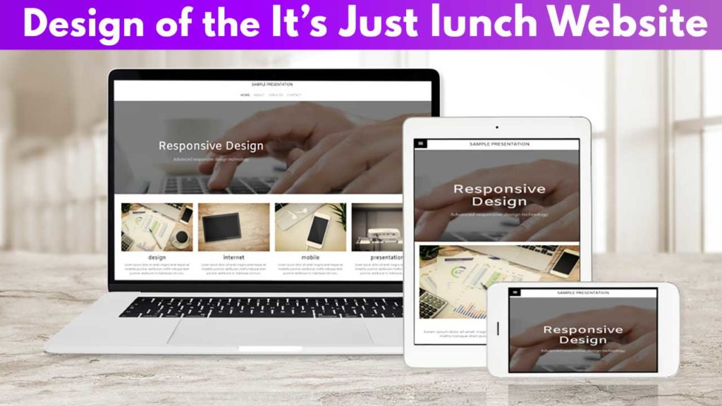Design of the It's just lunch website