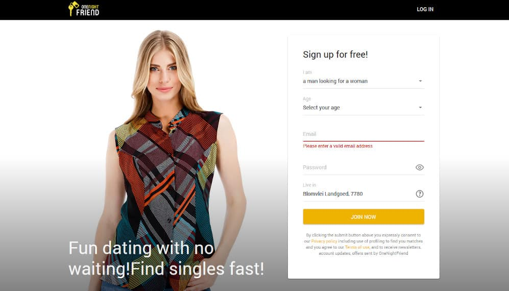 OneNightFriend Dating Site Review for 2021 1