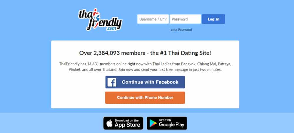 ThaiFriendly Dating App Review 2020