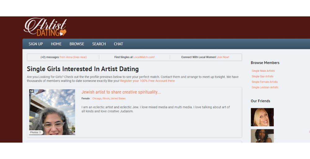 Dating Sites for Artists [year] - Meet Romantic Artists 2