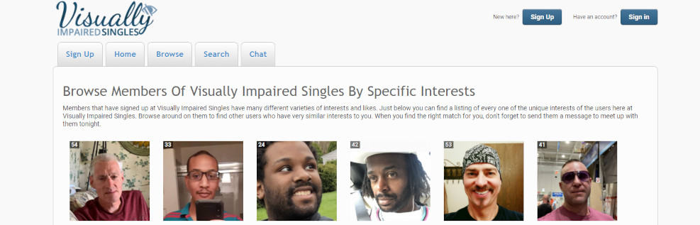 The 4 Best Dating Sites for Blind People [year] - Full review 2