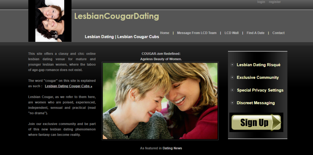 The 4 Best Lesbian Cougar Dating Sites [year] - Full Discloser 1