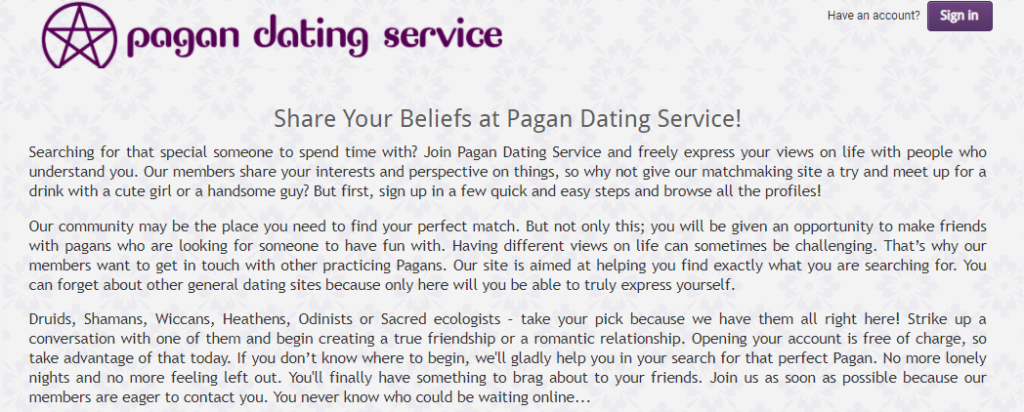 Best Pagan Dating Sites [year] - Find Single Pagans Online 6