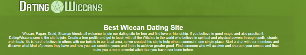 The 4 Best Wiccan Dating Sites [year] - Find Your Pagan Today 3