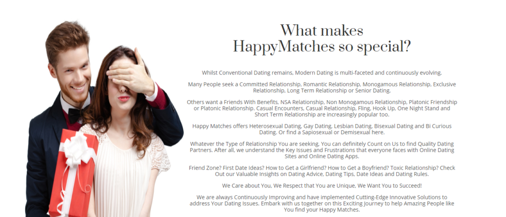 Happy Matches Review [year] - Are You Sure It's 100% Legit? 8