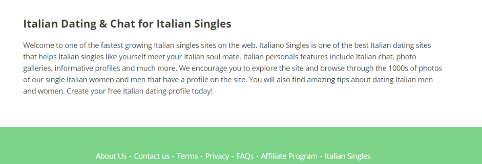 Italiano Singles Review [year] - Big Love or Big Scam? 9