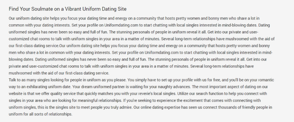 Uniform Dating Review [year] - Big Love or a Big Scam? 2